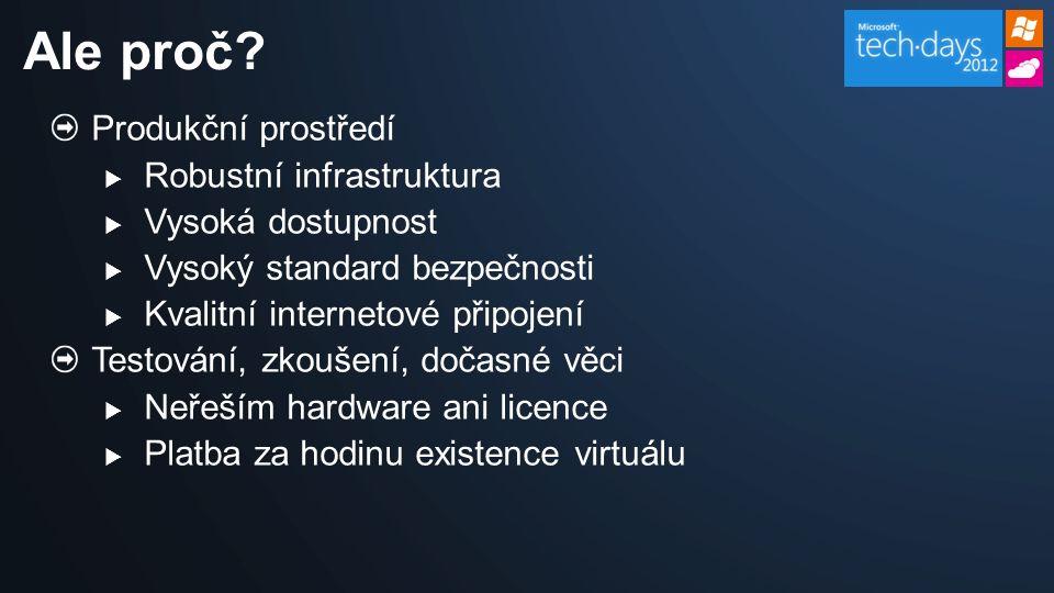 Možnosti vytvoření virtuálního počítače Síťové nastavení Práce s disky Důležité informace Agenda