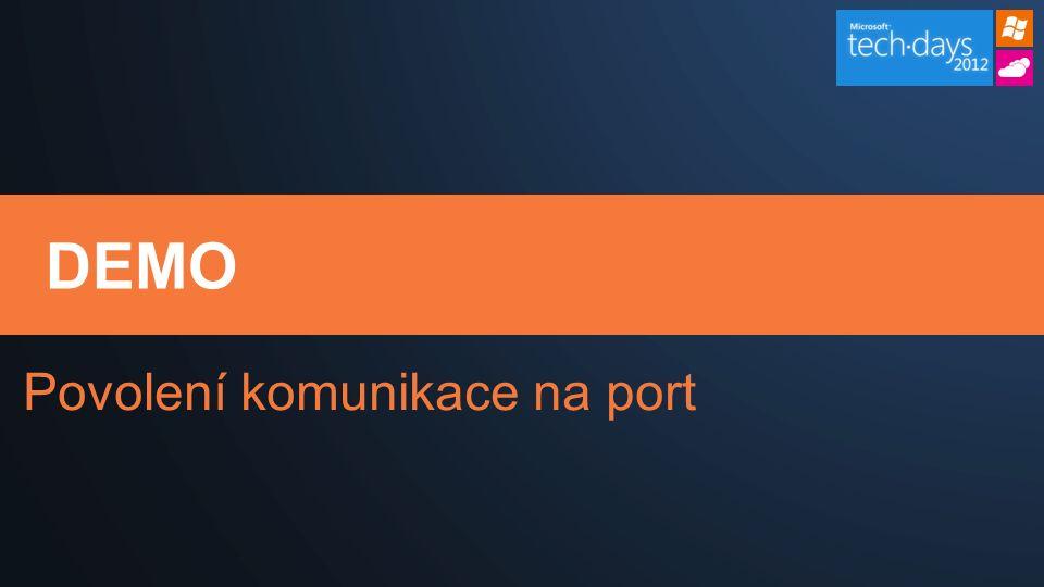 DEMO Povolení komunikace na port