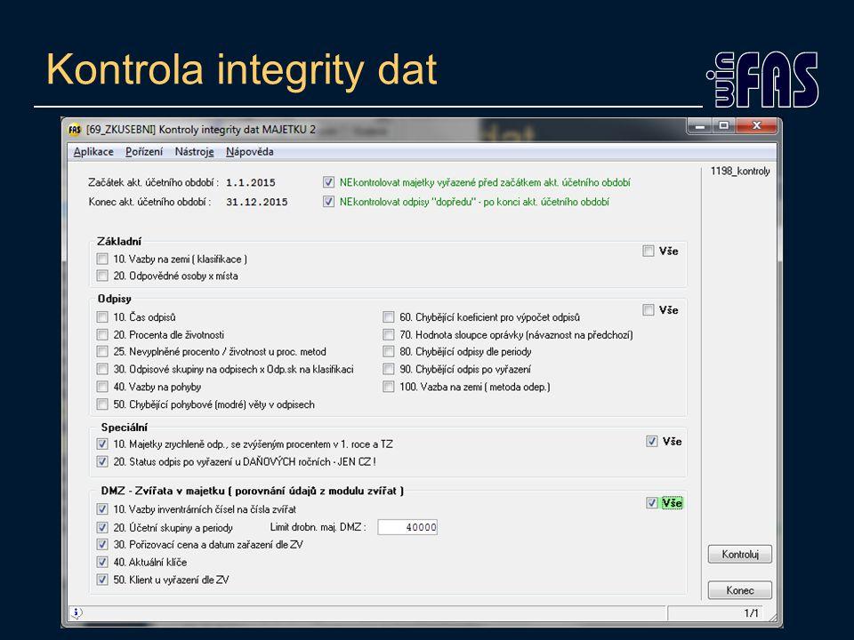 Kontrola integrity dat