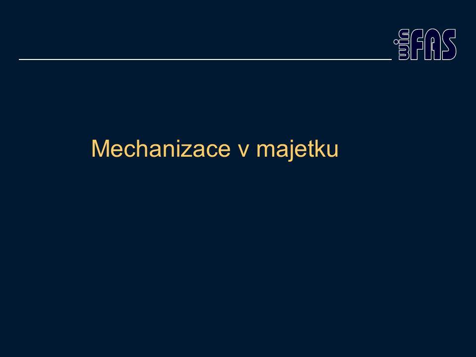 Mechanizace v majetku