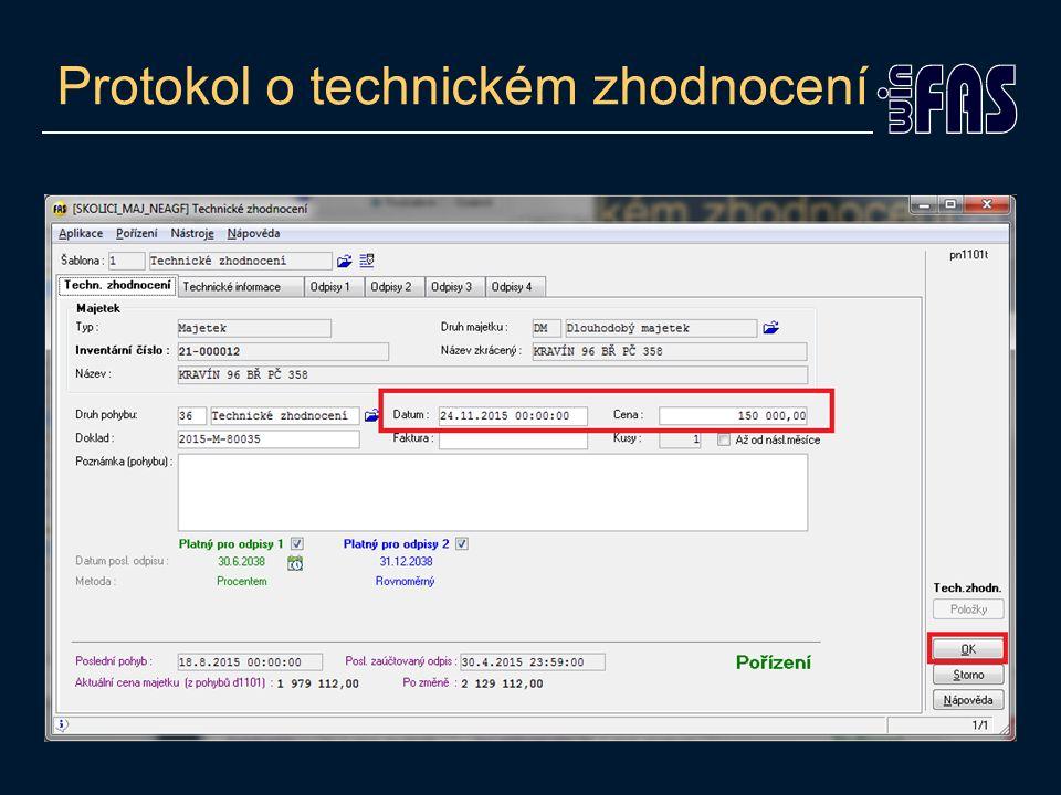 Protokol o technickém zhodnocení