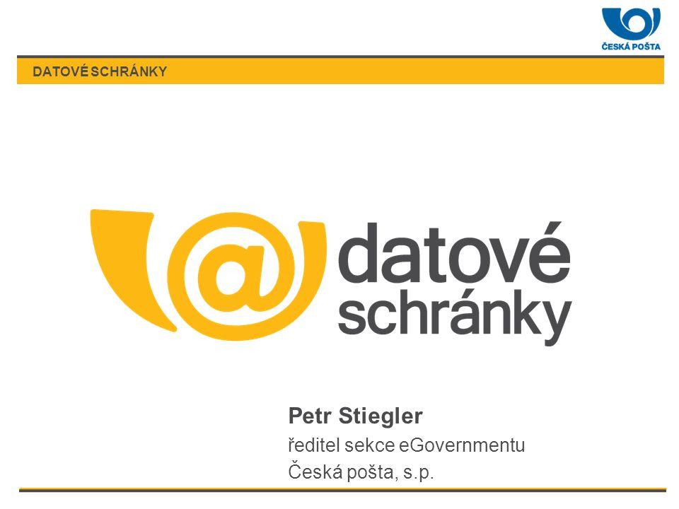 DATOVÉ SCHRÁNKY Petr Stiegler ředitel sekce eGovernmentu Česká pošta, s.p.