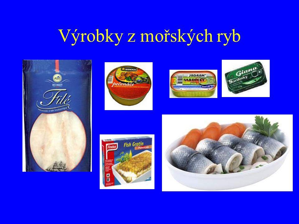 Výrobky z mořských ryb