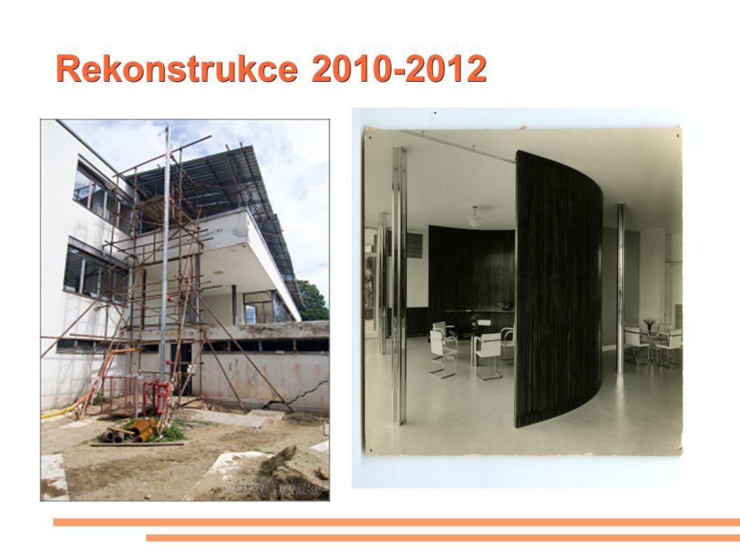 Rekonstrukce 2010-2012