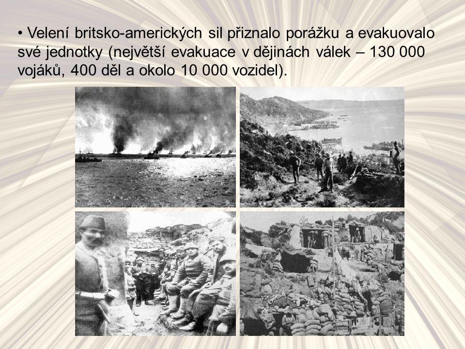 Velení britsko-amerických sil přiznalo porážku a evakuovalo své jednotky (největší evakuace v dějinách válek – 130 000 vojáků, 400 děl a okolo 10 000 vozidel).