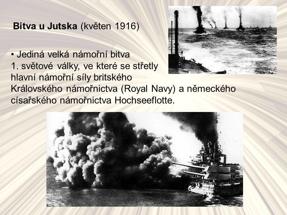 Bitva u Jutska (květen 1916) Jediná velká námořní bitva 1.