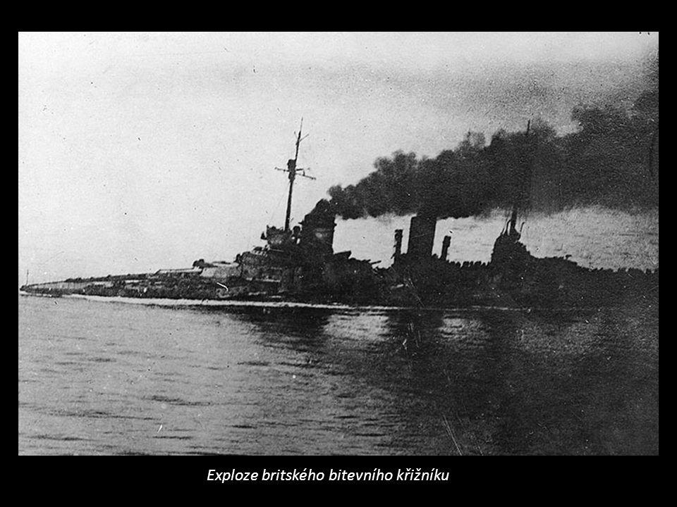 Exploze britského bitevního křižníku