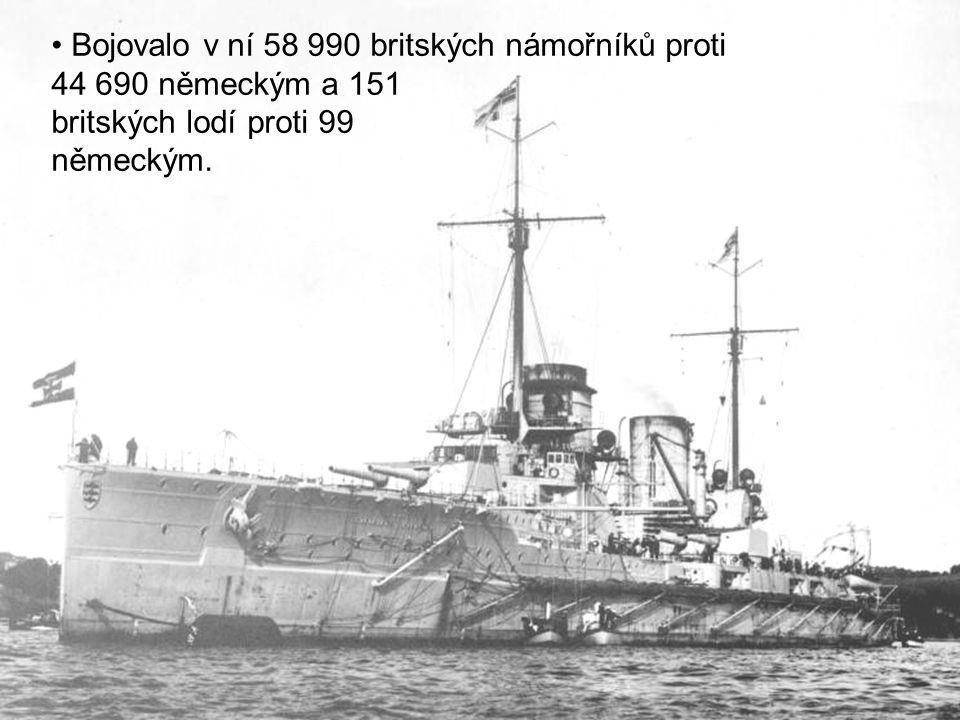 Bojovalo v ní 58 990 britských námořníků proti 44 690 německým a 151 britských lodí proti 99 německým.