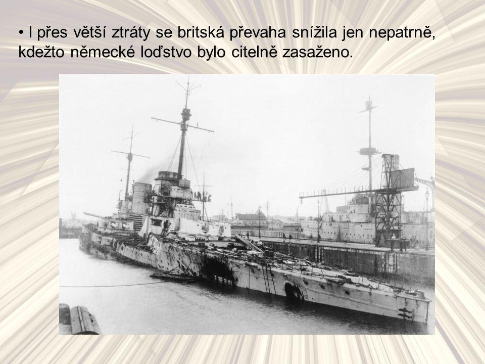 I přes větší ztráty se britská převaha snížila jen nepatrně, kdežto německé loďstvo bylo citelně zasaženo.