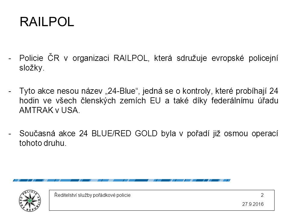 -Policie ČR v organizaci RAILPOL, která sdružuje evropské policejní složky.