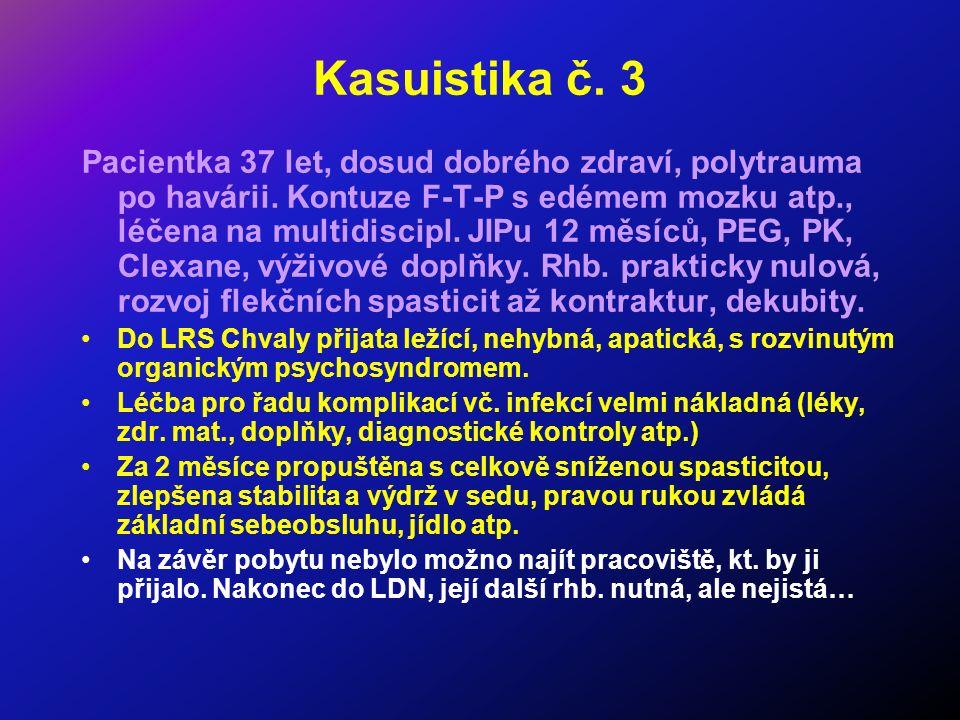 Kasuistika č. 3 Pacientka 37 let, dosud dobrého zdraví, polytrauma po havárii.