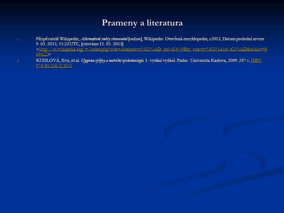 Prameny a literatura 1.