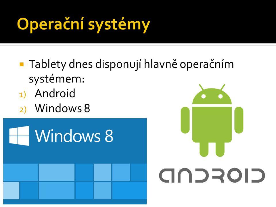  Nový operační systém od Microsoftu  Zaměřený na dotykovou obrazovku  METRO – dlaždicový systém