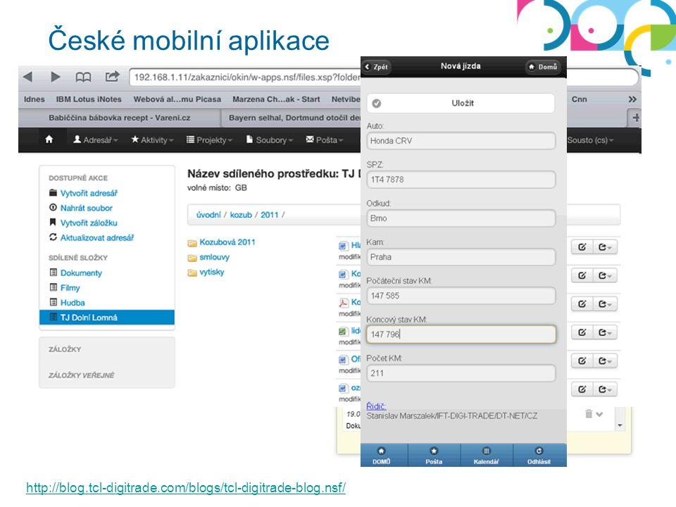 České mobilní aplikace http://blog.tcl-digitrade.com/blogs/tcl-digitrade-blog.nsf/