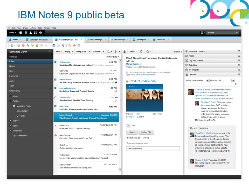 IBM Notes 9 public beta