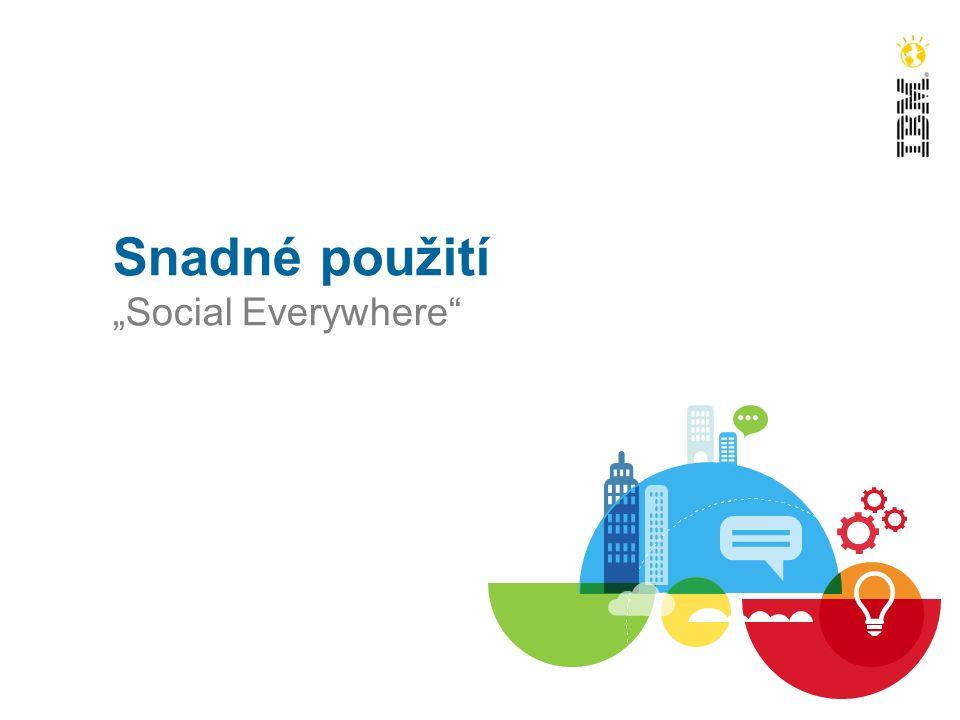 """Snadné použití """"Social Everywhere"""