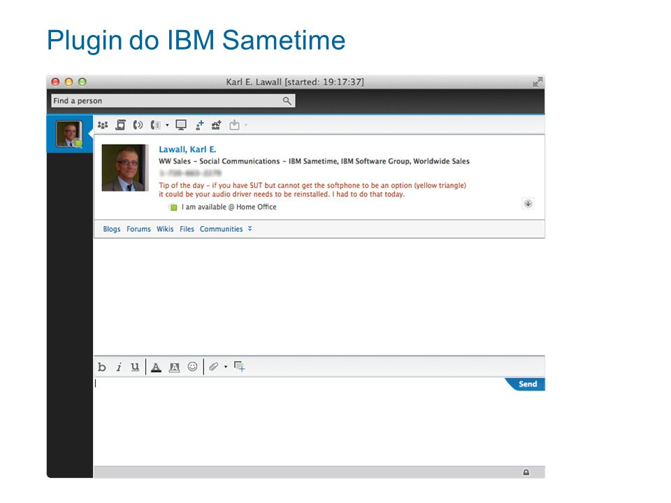 Plugin do IBM Sametime