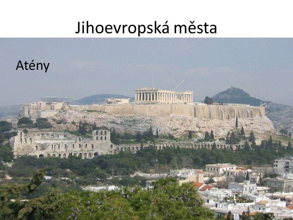 Jihoevropská města Atény