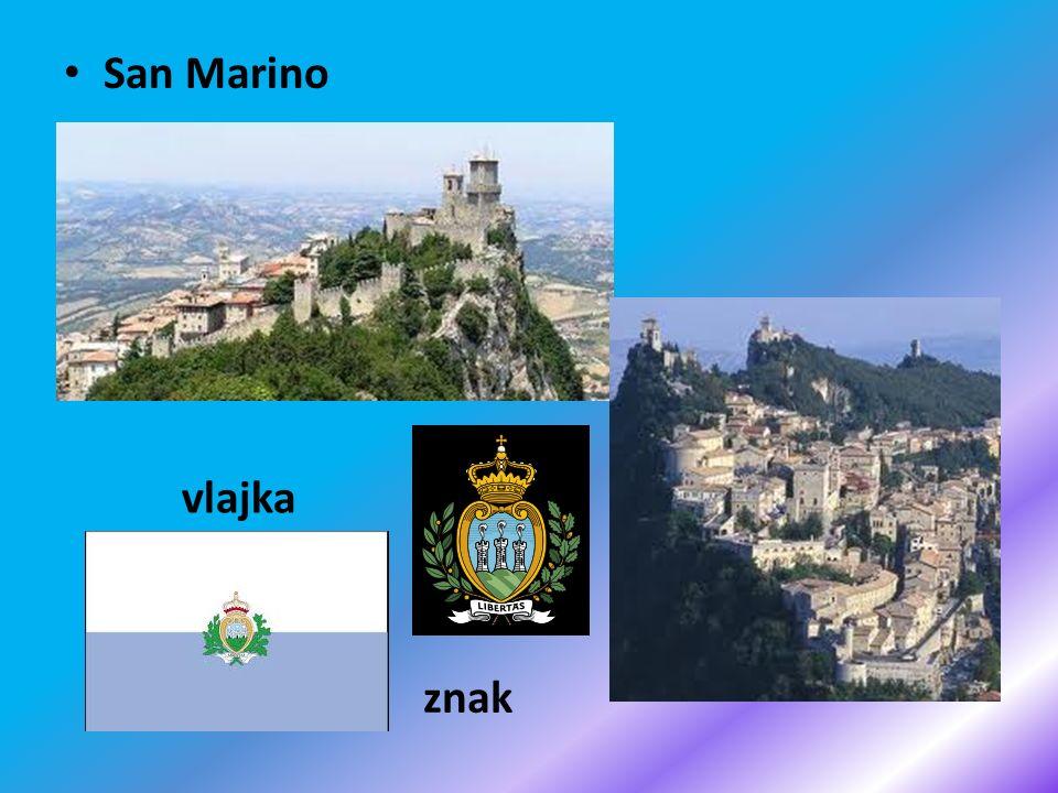 San Marino vlajka znak