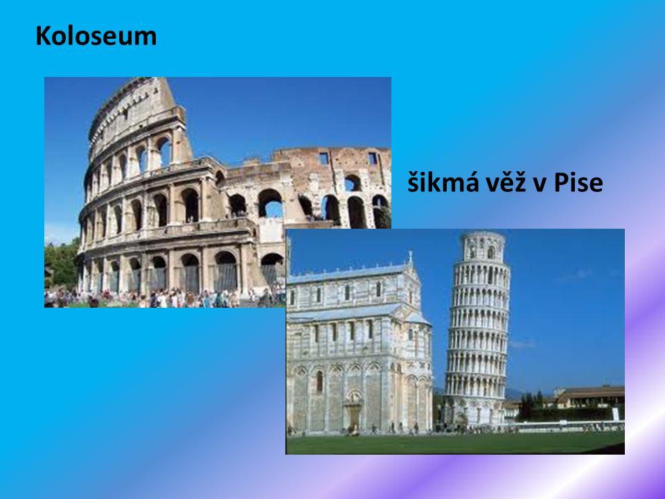 Koloseum šikmá věž v Pise