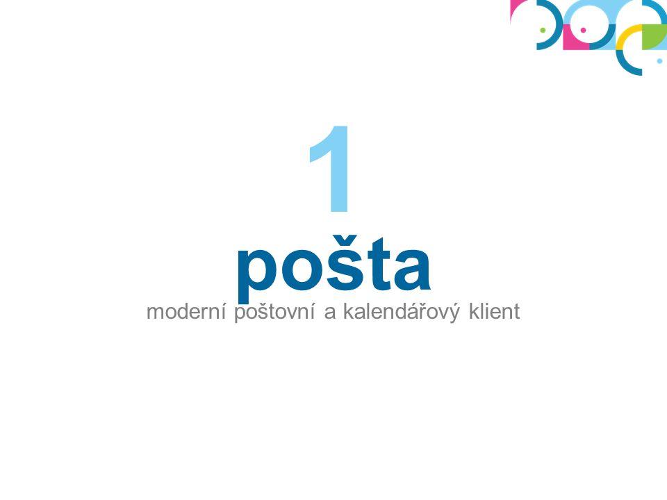 pošta moderní poštovní a kalendářový klient 1