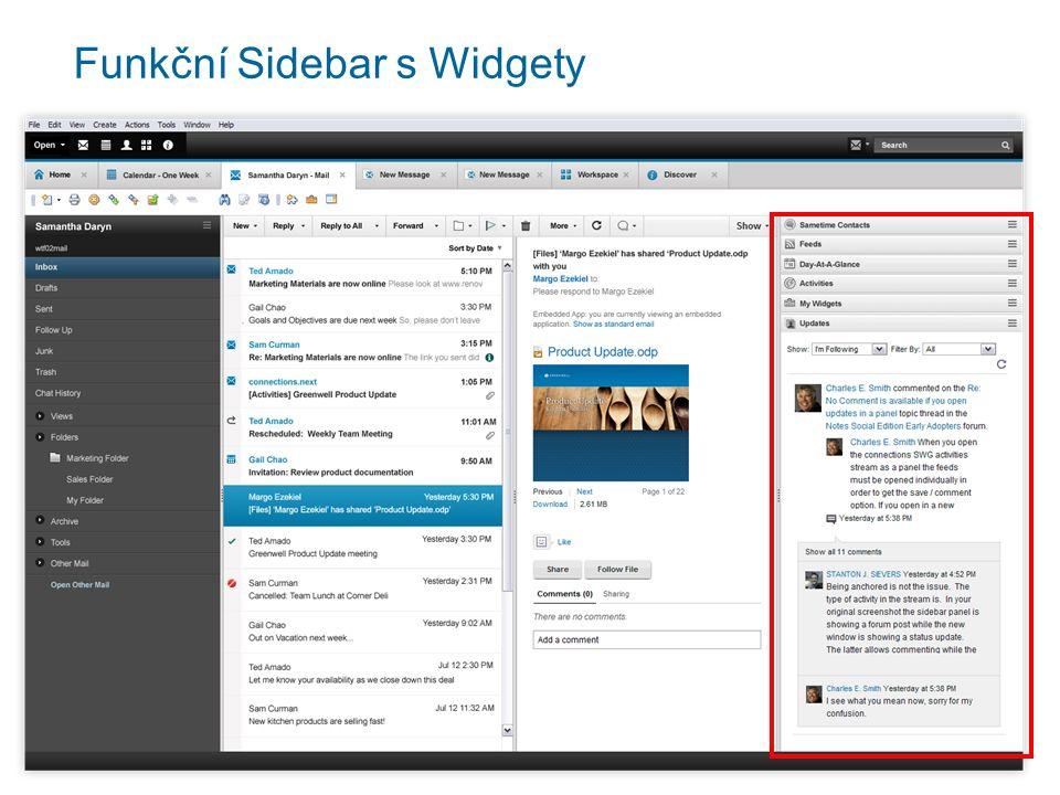 Funkční Sidebar s Widgety