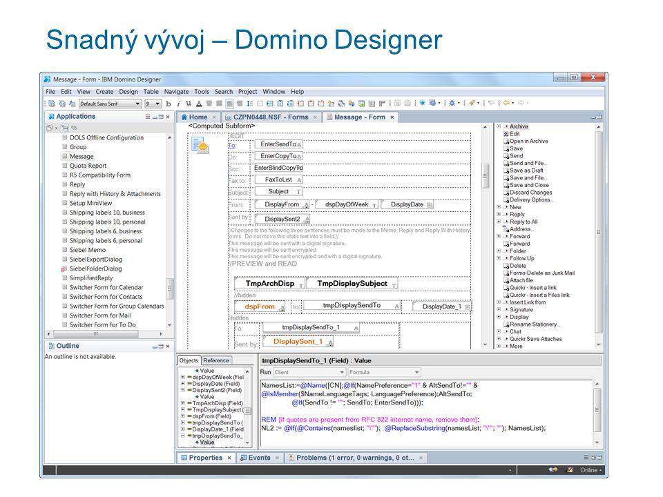 Snadný vývoj – Domino Designer