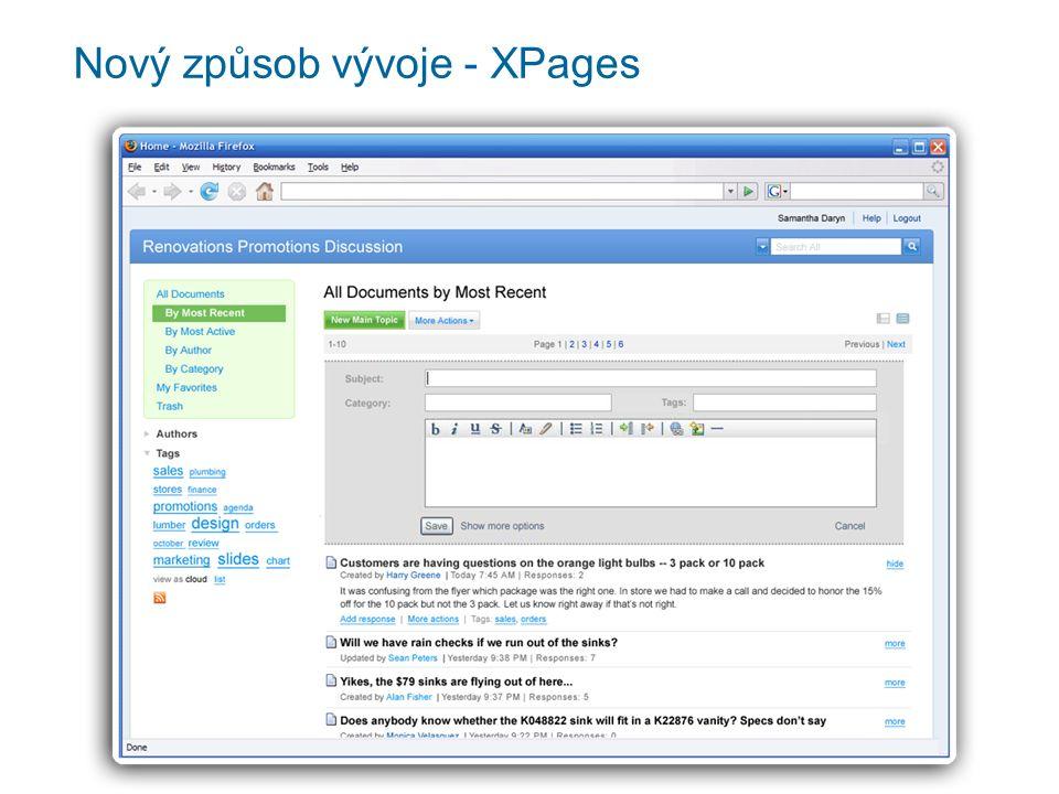 Nový způsob vývoje - XPages