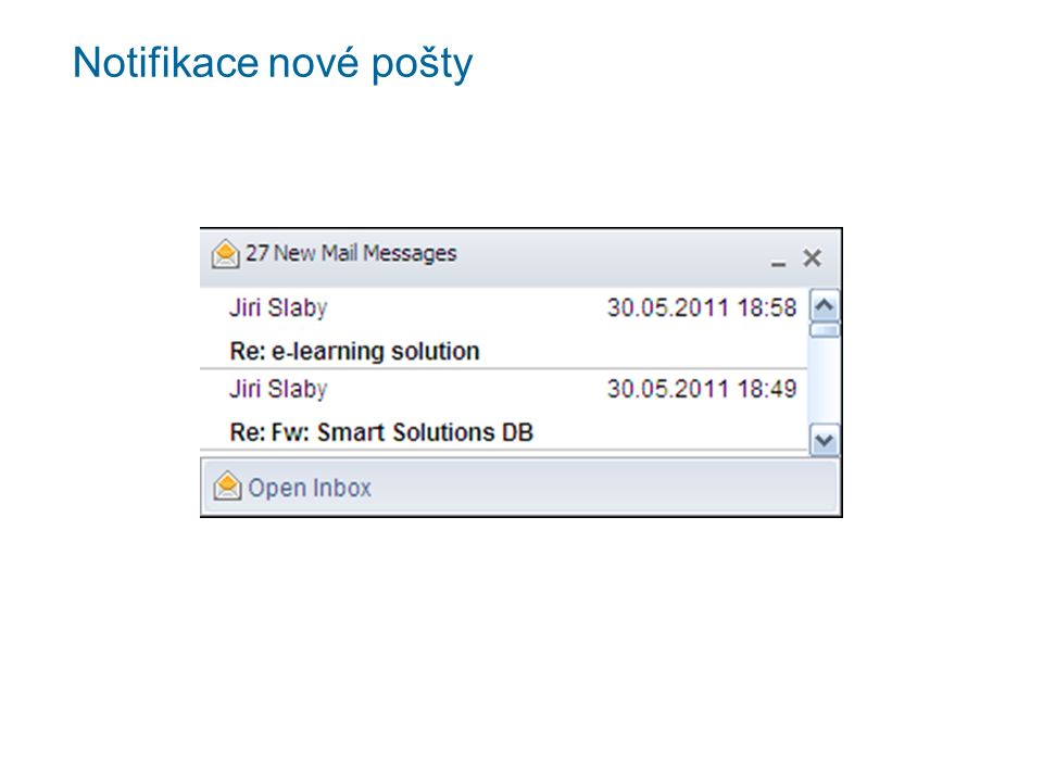 Notifikace nové pošty