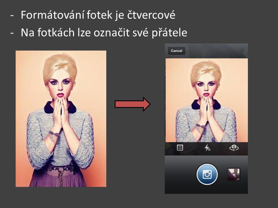 """- U fotky můžete kliknout na tlačítko značené """"líbí se a nebo k nim přidat komentář"""