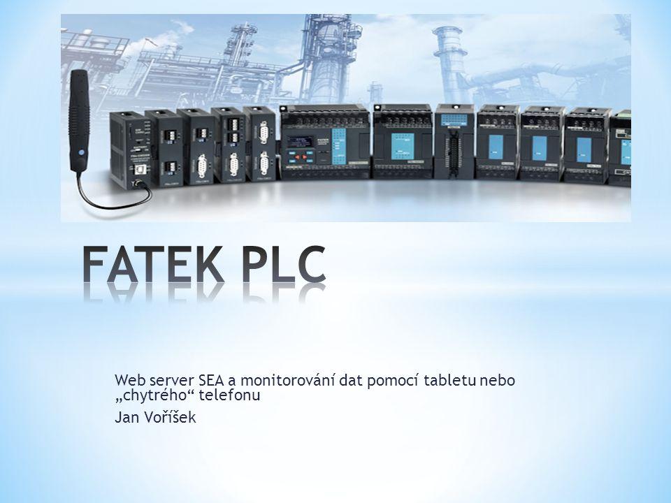 """Web server SEA a monitorování dat pomocí tabletu nebo """"chytrého telefonu Jan Voříšek"""