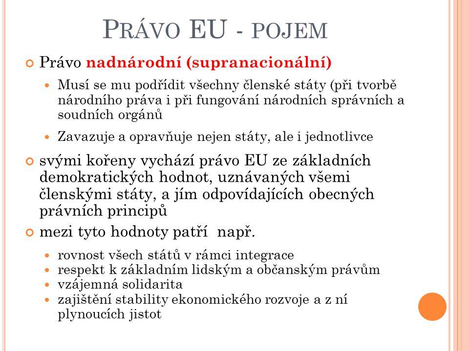 F.JUDIKATURA SOUDŮ EU ESD tak mnohdy činí na žádost národních soudů členských států v rámci tzv.