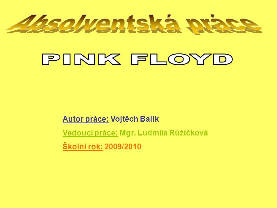 Autor práce: Vojtěch Balík Vedoucí práce: Mgr. Ludmila Růžičková Školní rok: 2009/2010