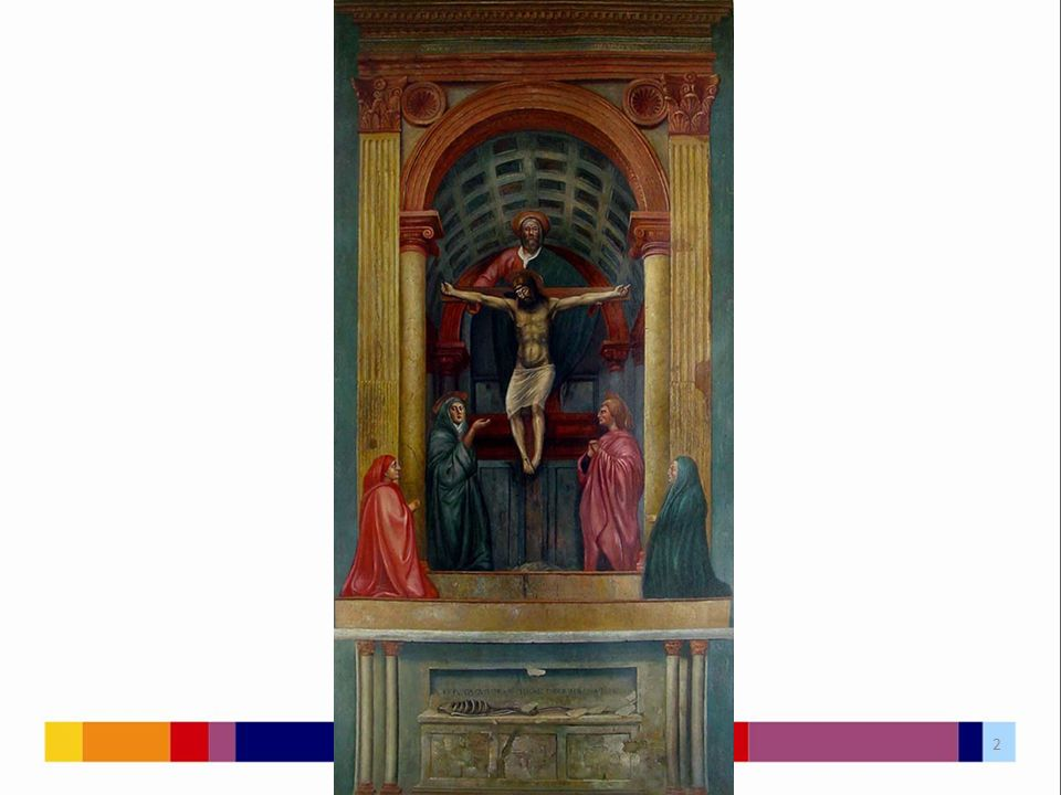 """Florencie Kostel Santa Maria Novella Oltářní freska v levé postranní lodi Typ znázornění: """"Trůn milosti Připojeno téma """"Přímluvy a """"Pomíjivosti 3"""