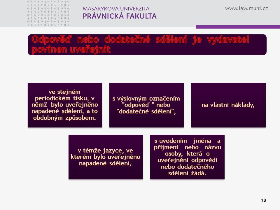 www.law.muni.cz 18