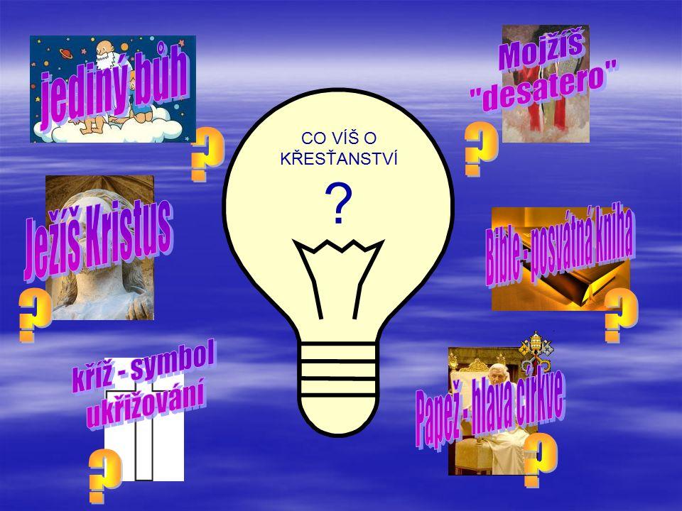 Klikni na rámeček, či slovo, zobrazí se odpověď