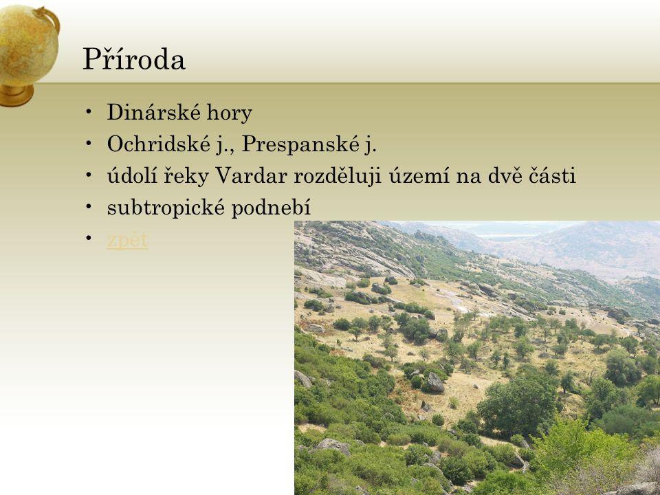 Příroda Dinárské hory Ochridské j., Prespanské j.