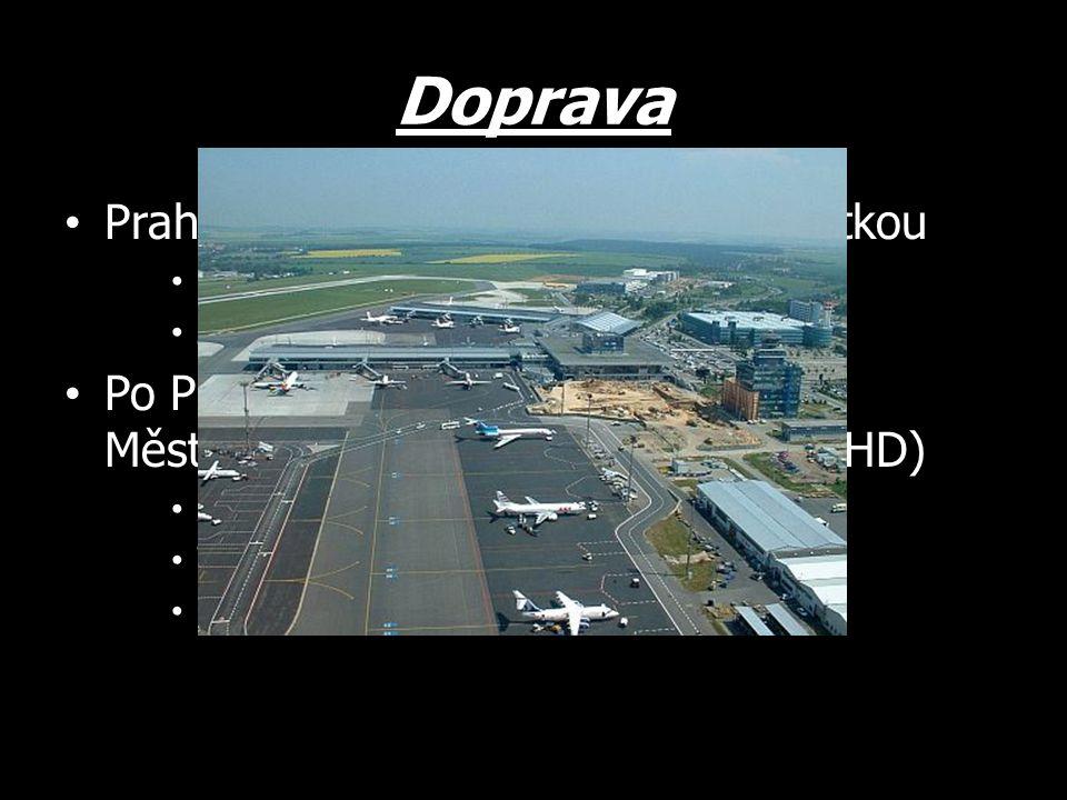 Doprava Praha je důležitou dopravní křižovatkou Sbíhají se zde dálnice a železnice Je zde mezinárodní letiště Ruzyně Po Praze se můžeme přepravovat Mě