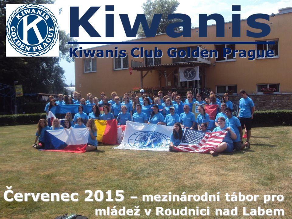 Kiwanis Club Golden Prague Červenec 2015 – mezinárodní tábor pro mládež v Roudnici nad Labem