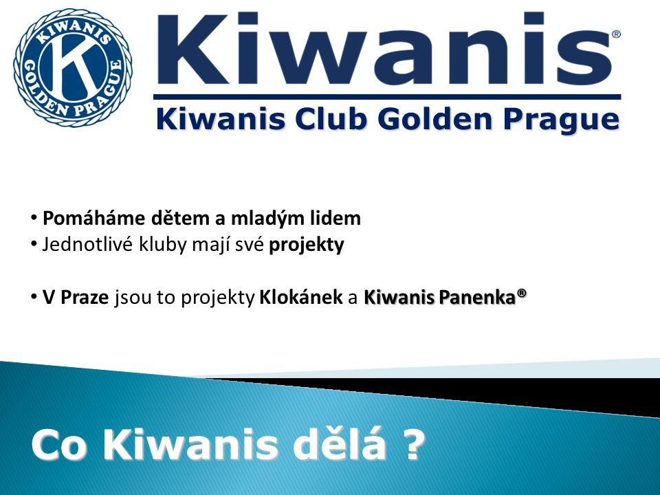 Pomáháme dětem a mladým lidem Jednotlivé kluby mají své projekty Kiwanis Panenka® V Praze jsou to projekty Klokánek a Kiwanis Panenka® Co Kiwanis dělá