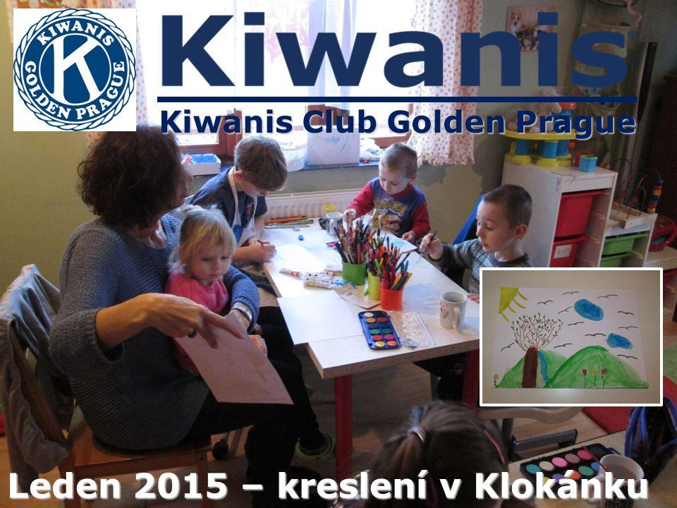 Kiwanis Club Golden Prague Leden 2015 – kreslení v Klokánku