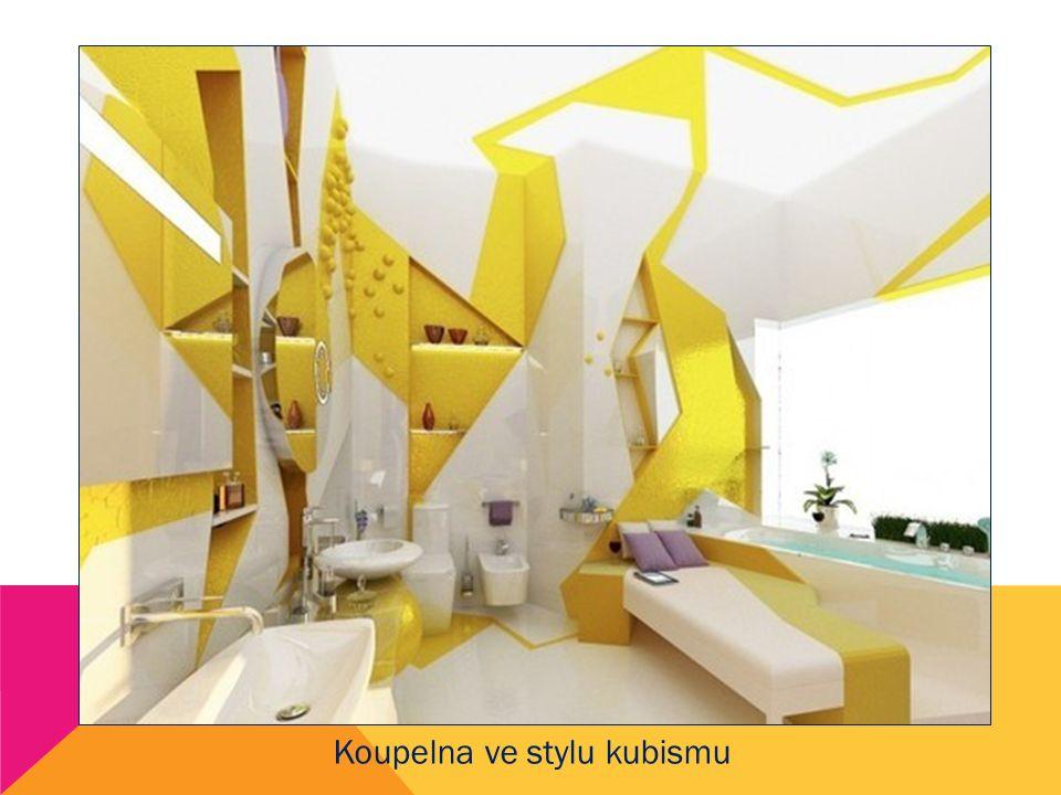 Koupelna ve stylu kubismu