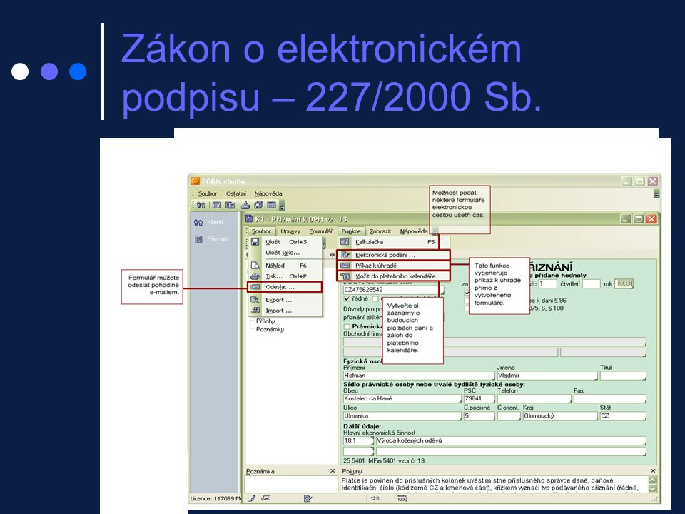 Zákon o elektronickém podpisu – 227/2000 Sb.