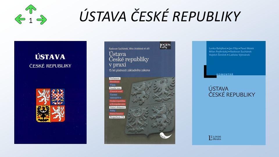 ÚSTAVA ČESKÉ REPUBLIKY 1