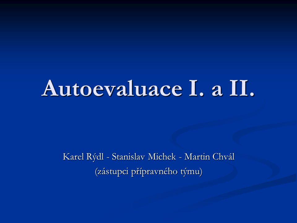 Autoevaluace I. a II. Karel Rýdl - Stanislav Michek - Martin Chvál (zástupci přípravného týmu)