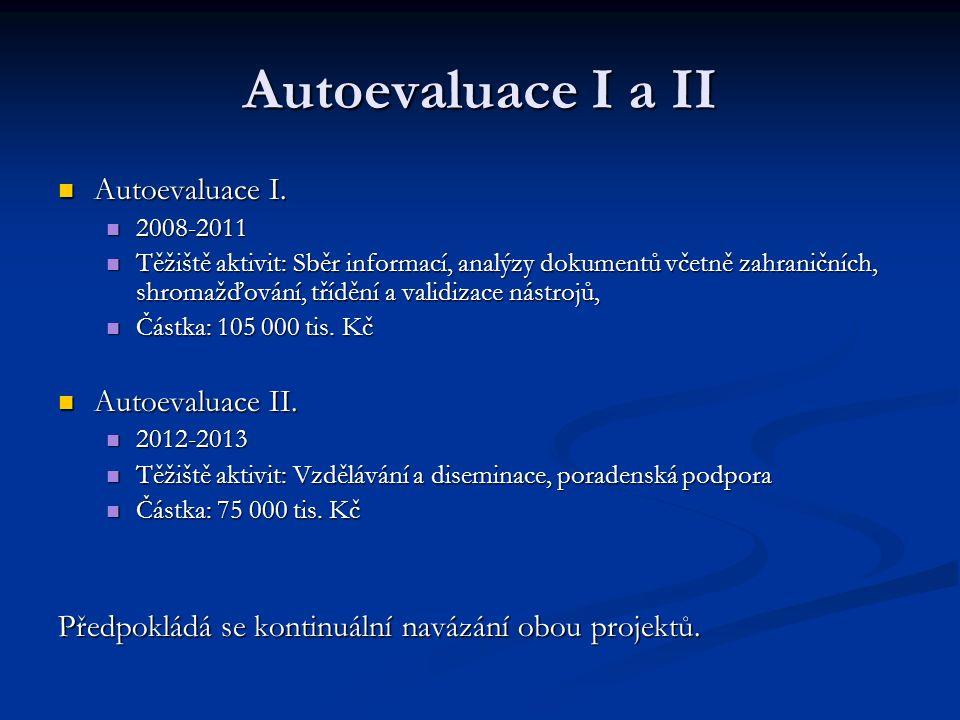 Autoevaluace I a II Autoevaluace I. Autoevaluace I.