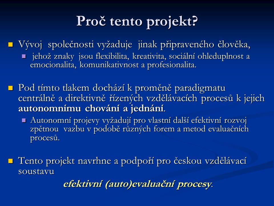 Proč tento projekt.