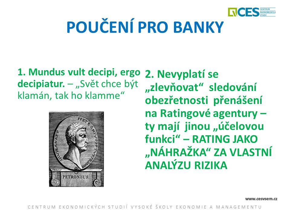 POUČENÍ PRO BANKY 1.Mundus vult decipi, ergo decipiatur.