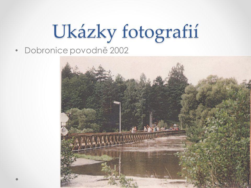 Ukázky fotografií Dobronice povodně 2002