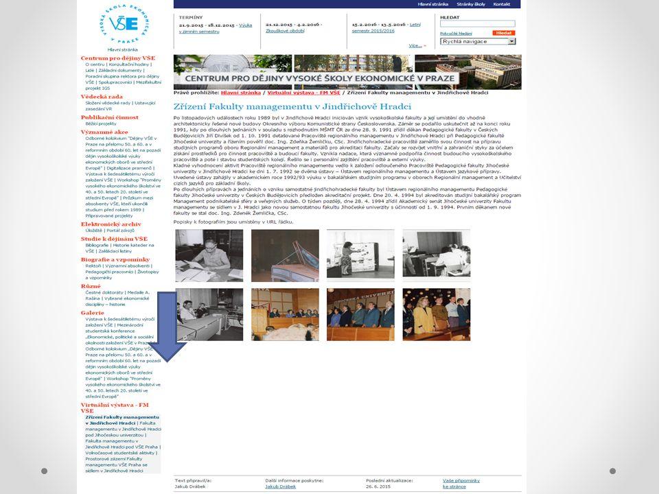 K výstavě Výstava je řazena do pěti tematických celků Každý celek je uveden úvodním slovem Fotky se zobrazují v náhledech, po kliknutí na náhled se zvětšují do původní velikosti Popisky k fotografiím jsou umístěny v URL řádku